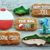 Fishing Bobber Sugar Cookie