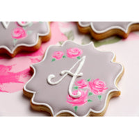 Letter A Sugar Cookie in White Frosting