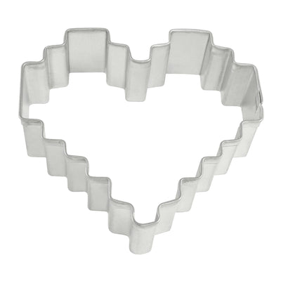 Pixelated Heart Cookie Cutter