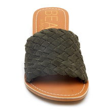 Olive Woven Slide Sandal by Matisse Final Sale, extra 50% off at checkout.