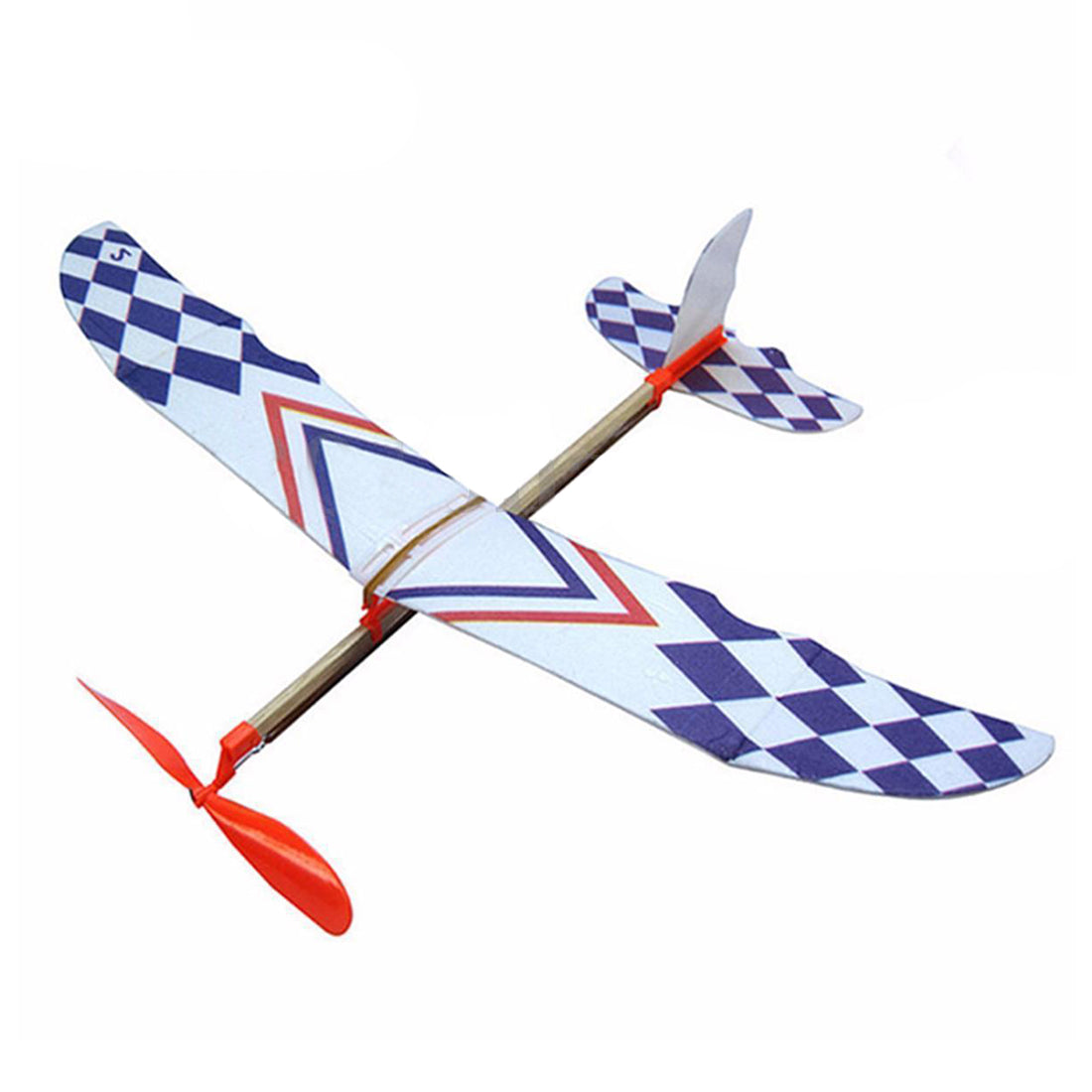 Elastic Rubber Band Powered DIY Foam Plane