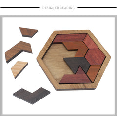 Wood Hexagonal Puzzle