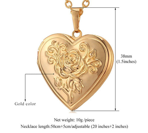 Rose memory pendant necklace deals daily mall beautiful and elegant memory pendant necklace for your love ones in your daily life perfect gift for your anniversary aloadofball Gallery
