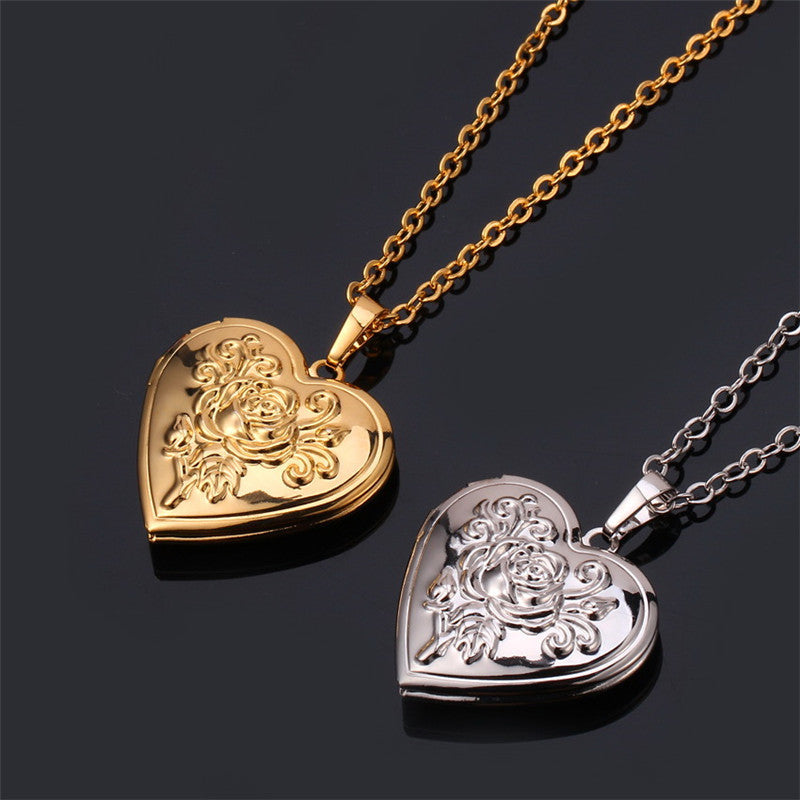 Rose memory pendant necklace deals daily mall rose memory pendant necklace aloadofball Gallery
