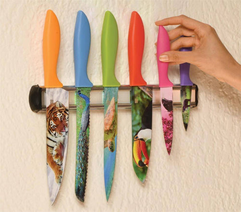 BEHOLD Magnetic Wall Mounted Kitchen Knife Holder