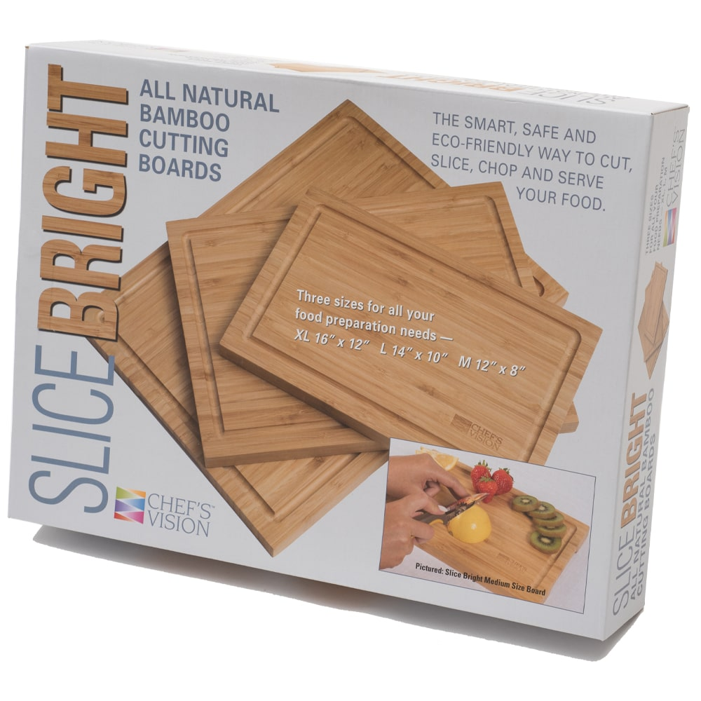Slice Bright Bamboo Cutting Boards - Set of 3