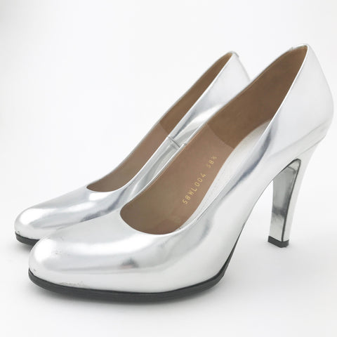 Margiela Metallic Silver Pumps (size 38.5)