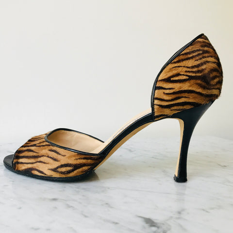 Manolo Blahnik Animal Print Pumps (39.5)