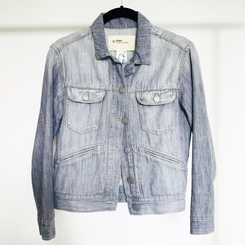 Isabel Marant Etoile Grey Denim Jacket (size 1 / XS-S)