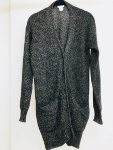 Demylee, New York Oversized Black Cashmere Cardigan (M)
