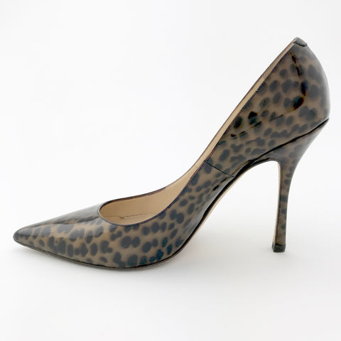 Jimmy Choo Patent Leather Animal Print (size 38)