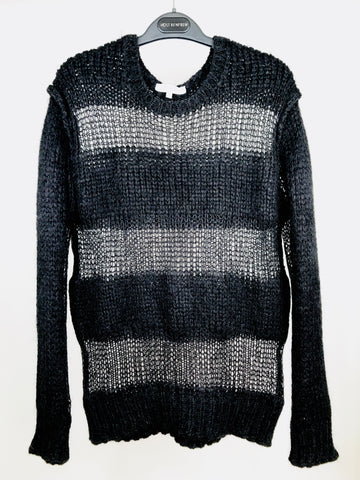 Iro Black Striped Sweater (M, fits S)