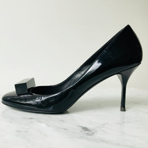 Pierre Hardy Black Patent Leather Pumps (40; fit small)