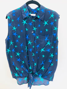 Equipment Silk Tank Blouse | Large Star Print (S)