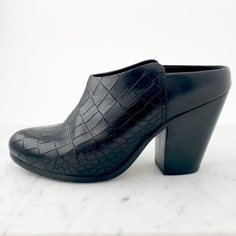 Rag & Bone Snakeskin Embossed Leather Mules (size 38)