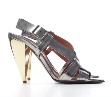 Lanvin Metallic Silver & Gold Sandals (size 40.5 / fit small)