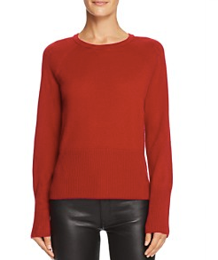 "Equipment ""Sloane"" Ruby Red Cashmere Sweater (L)"