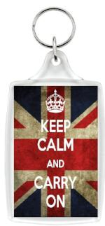 Keep Calm and Carry On Jumbo Keyring