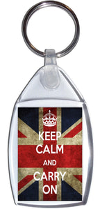 Keep Calm and Carry On Standard Size Keyring