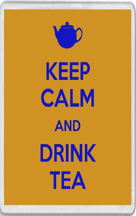 Keep Calm and Drink Tea Jumbo Fridge Magnet