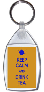 Keep Calm and Drink Tea Standard Size Keyring