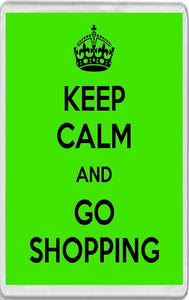 Keep Calm and Go Shopping Jumbo Fridge Magnet