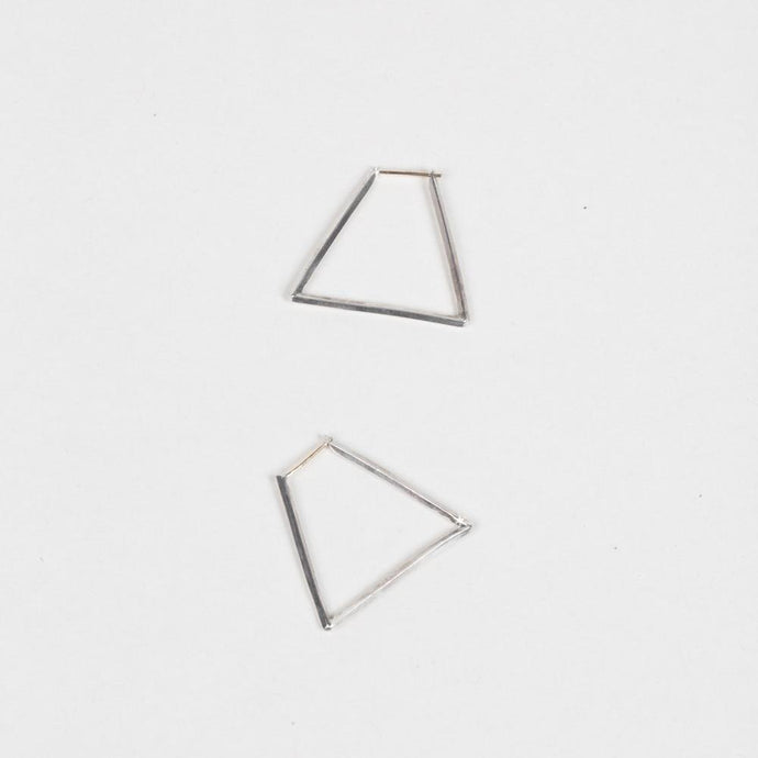 Modhemia Angle Hoops Earring Sterling Silver 14k Yellow Gold