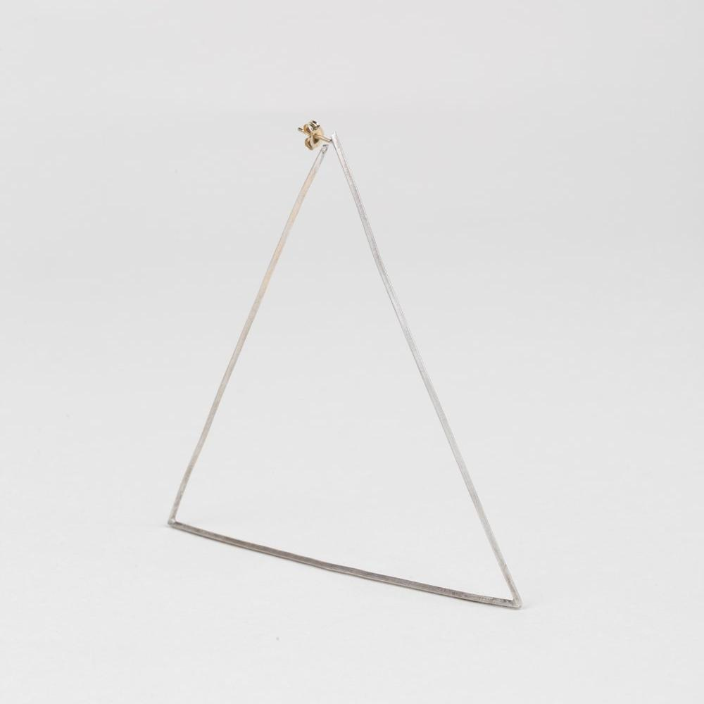 Modhemia Statement Angle Hoop Sterling Silver 14k Yellow Gold