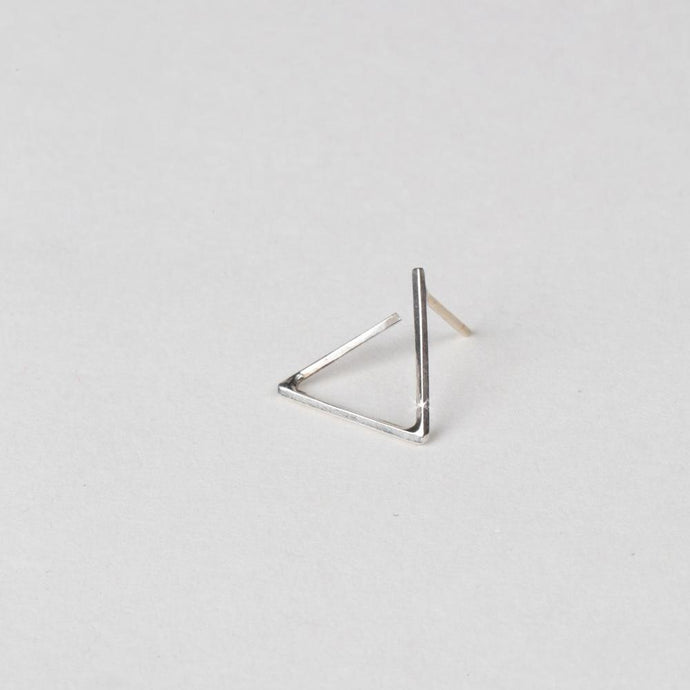 Modhemia Perspective Angle Stud Earring Sterling Silver 14k Yellow Gold