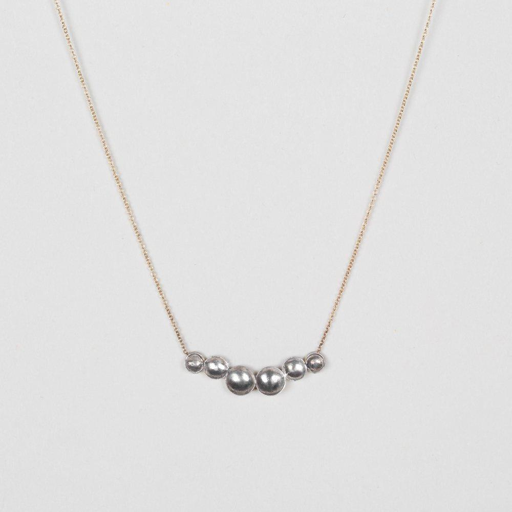 Modhemia Paraboloid Necklace Classic Sterling Silver 14k Gold