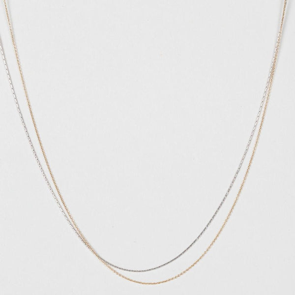 Modhemia Delicate Linear Multi-length Chain Necklace