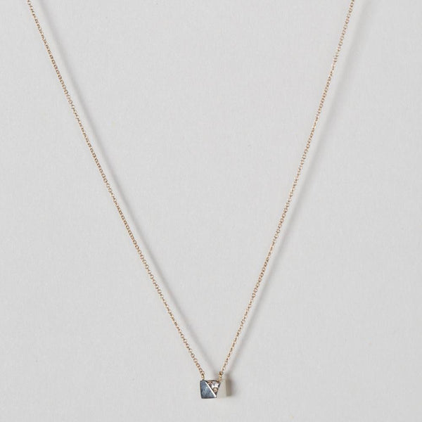 Modhenia Planar Pendant Necklace Sterling Silver 14k Yellow Gold Diamond