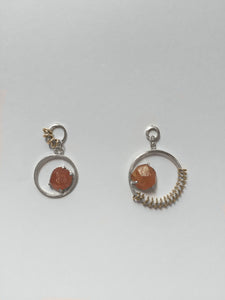 Spessartite Garnet Earrings In The Rough