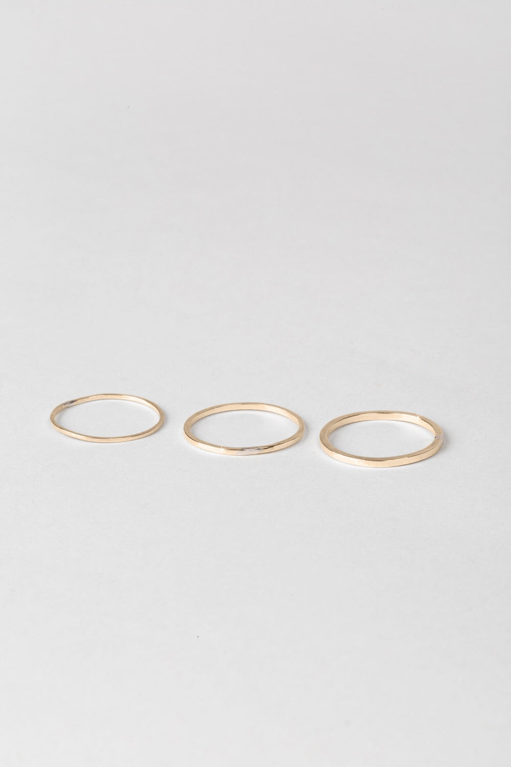 Linear Ring Set - Gold