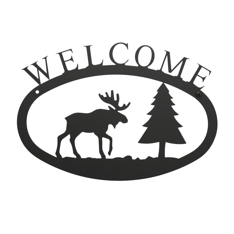 Moose Pine Welcome Sign
