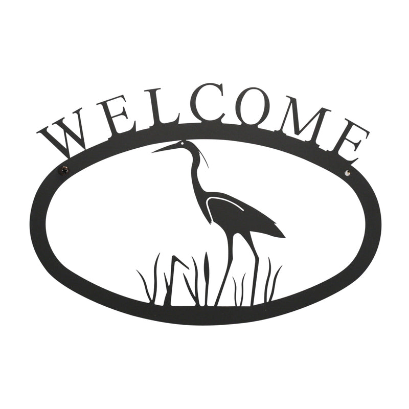 Heron Welcome Sign