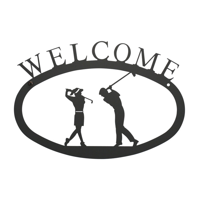 Golf Couple Welcome Sign