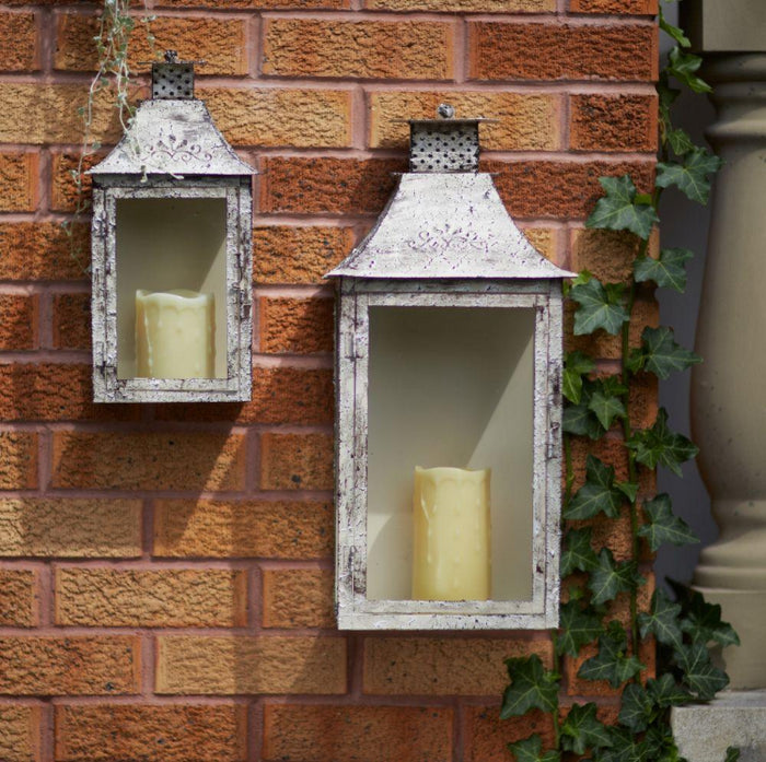 Antique Cream Wall Lantern
