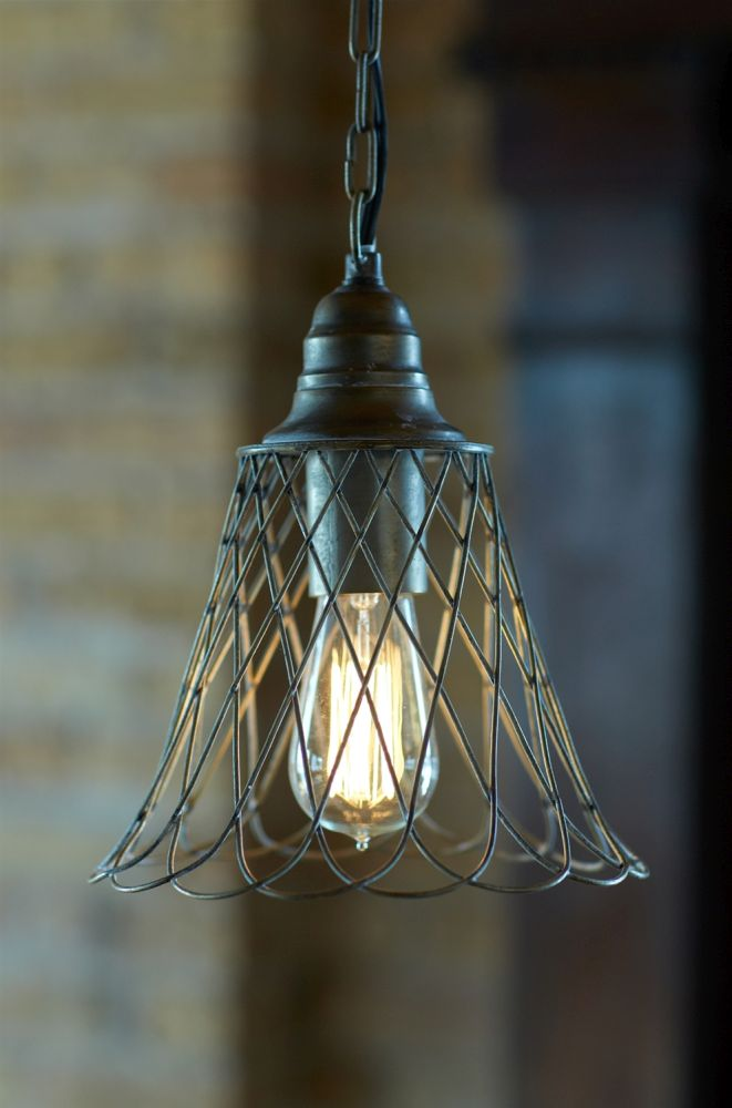 Antique Style Wire Pendant Light Fixture