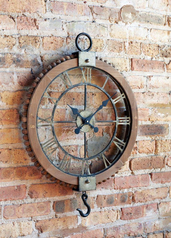 Large Open Wall Clock w/Hook by Melrose International