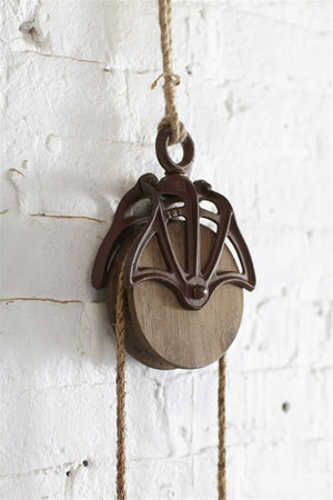 Rustic Country Style Decorative Pulley Set