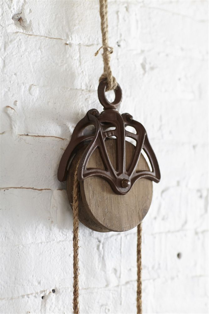 Rustic Country Style Decorative Pulleys (Set of 3)