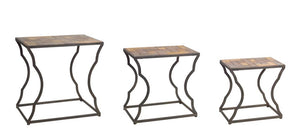Rustic 3-Piece Nesting Side Tables