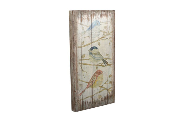 Bird Print Wood Wall Plaque