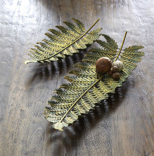 large fern leaf tray