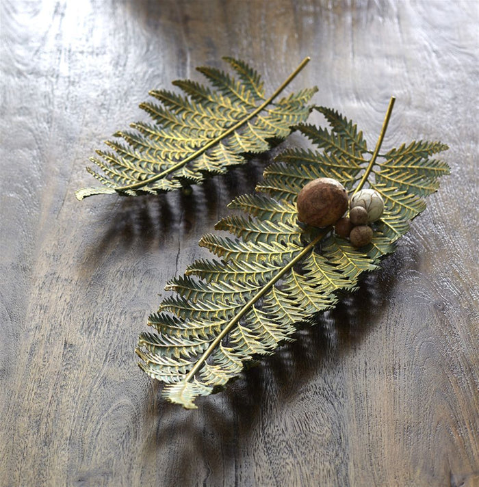 Large Fern Leaf Serving Trays Set