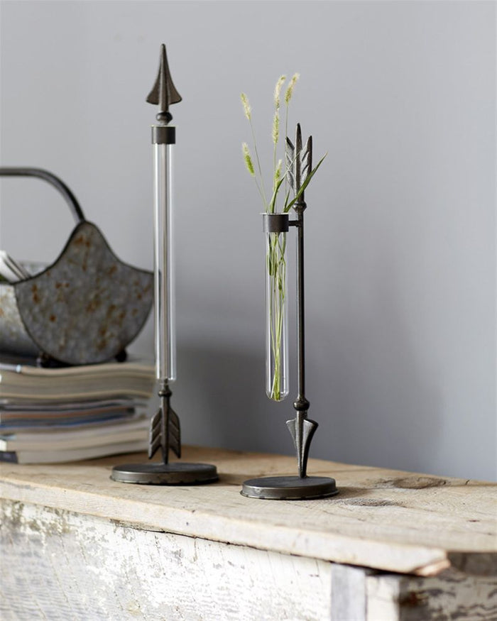 Hanging Vase on Arrow Stands