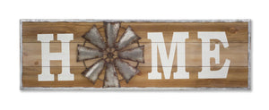 home windmill wood wall plaque