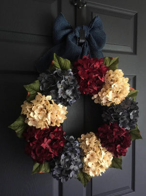 wreath | Red White Blue Vintage Style Patriotic Wreath