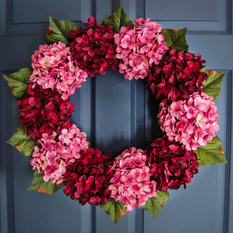 pink and red wreath